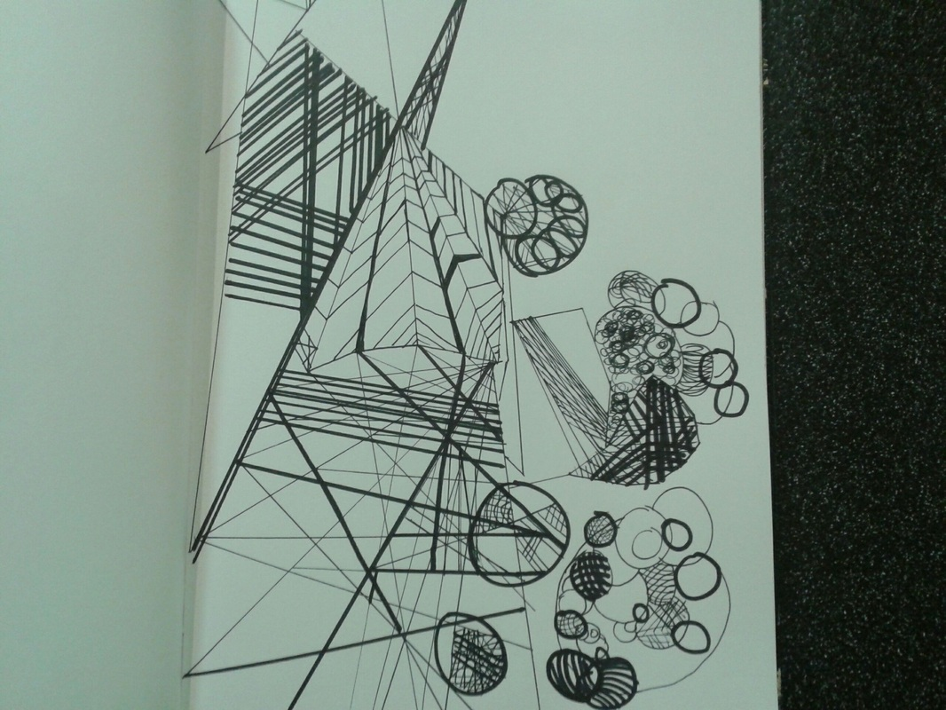 This is the second linear drawing i created i wanted to make it transition a make it look different so i added in circles in the circles it merges
